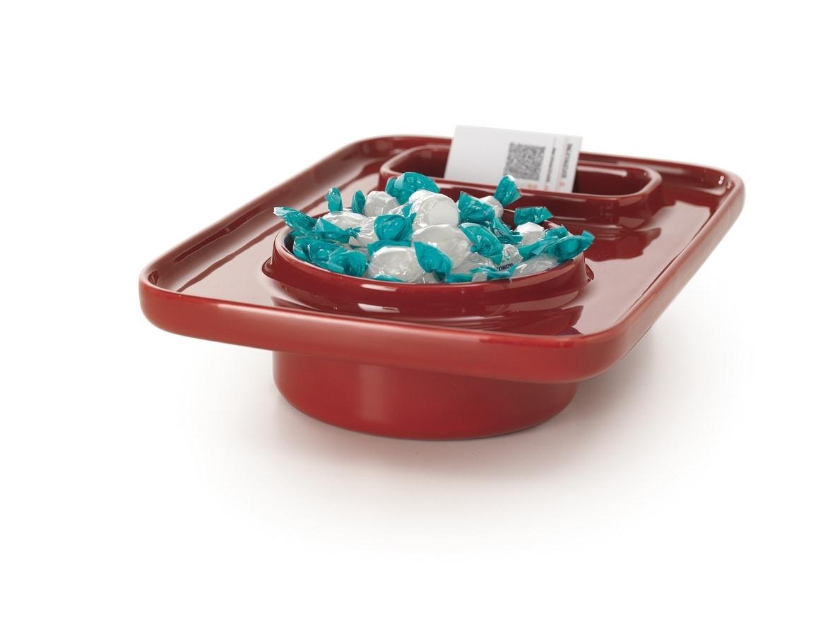 Plat, Multifunktionsobjekt aus farbigem Steinzeug
