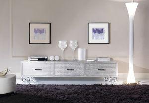 Allegra Livingniedriger Schrank, Niedriges Sideboard für das Wohnzimmer