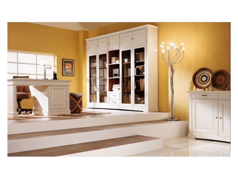 Art.100/L, Schrank mit abgeschrägten Glastüren, klassischen Stil