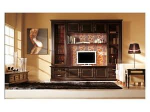 Art.101/L, Ausgestattet Wand aus massivem Holz, klassischen Stil