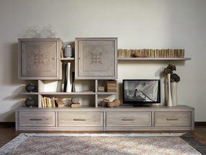 Ca' Venier Art. CV1030/D, Modulare Möbel für das Wohnzimmer