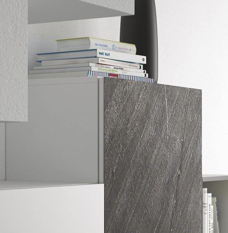 Spazio S308, Wandsystem für Wohnzimmer, mit hoher Qualität