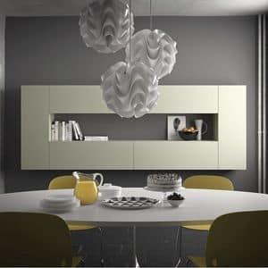 Spazio S307, Modulares Regal, aus Stein, Glas, Aluminium, Holz