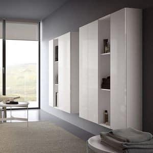 Spazio S302, Wandsystem für TV, moderne und modular