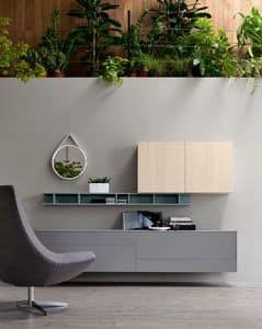 Citylife 05, Möbelsystem für moderne Wohnräume, anpassbare