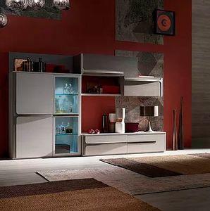Cleo comp. CL2, Modulare Möbel für den Wohnbereich