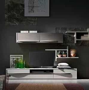 Cleo comp. CL5, Wohnzimmermöbel mit Regalen und Schrankwänden