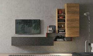 Comp. A073, Kleine Schrankwand für Wohnzimmer