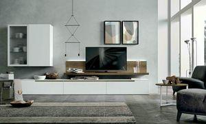 Comp. A127, Wohnzimmermöbel mit Schrankwänden