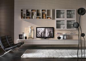 Elettra Art. EL1018, Möbel mit Wandschränken für Wohnzimmer