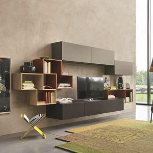 Lampo L5C23, Modulare Wand für den Wohnbereich