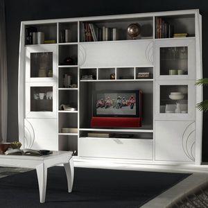 Luna LUNA5035, Modularer Schrank für Wohnzimmer