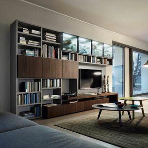 Modo M5C59, Bücherregal mit TV-Ständer