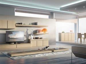 Tag Systeme 01, Möbelsystem für Aufenthalte, modular, wesentlich