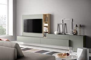 People P214, Wandsystem für modernes Wohnen, in Holz