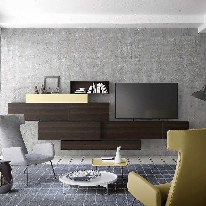 People P215, Modulares System für Wohnzimmer-Einrichtung