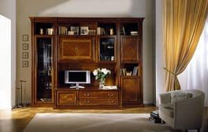 R 05, Modulare Möbel in Kirsche, für klassische Wohnzimmer