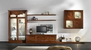 R 07, Kirsche Möbel für Wohnzimmer, mit Messinggriffen