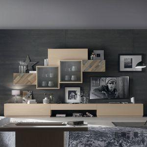 Spazio Contemporaneo SPAZ03, Wohnzimmermöbel mit Schrankwänden
