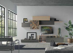 Spazio Contemporaneo SPAZ08, Moderne modulare Möbel für das Wohnzimmer