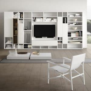 Spazioteca SP014, Baukastensystem für den modernen Wohnraum, in Holz