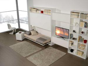 Surf LC442, Wohnzimmermöbel mit verstecktem Etagenbett