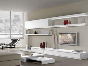 Tag Systeme 16, Modulares System für das Wohnzimmer mit modernem Stil