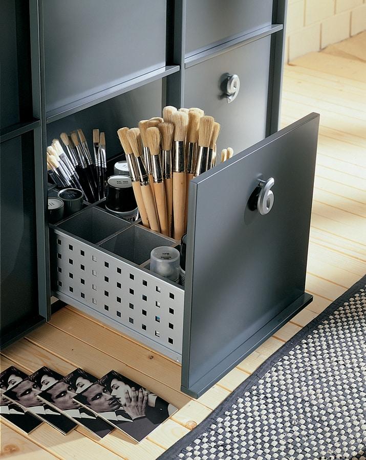 TOOLBOX comp.03, Speichereinheit für Haus oder Büro, nummeriert Griffe