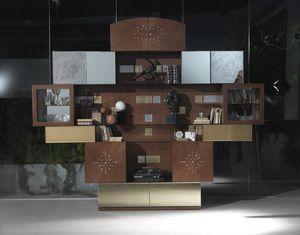 VL29 Klimt Schrank, Wohnzimmermöbel mit Spiegeln, zum Outlet-Preis