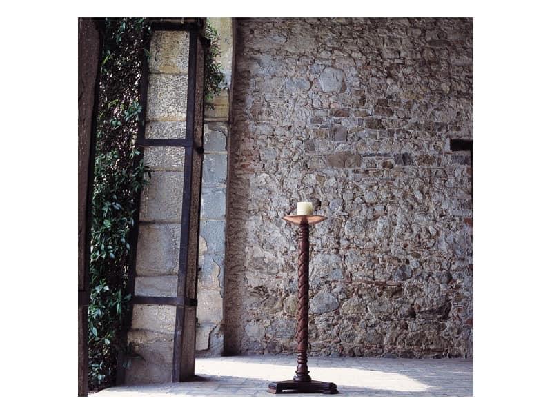 Eros, Kerzenhalter mit Holzsäule und Kupferplatte