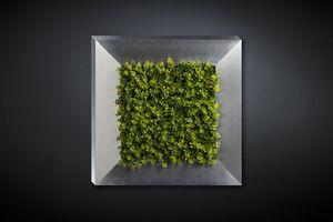 New Eucalyptus, Dekorative Metallplatte mit künstlichen Blumen
