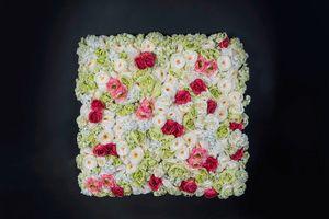 Rose Flower Wall, Dekorative Blumenwände