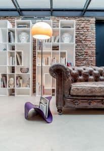 FLY, Zeitschriftenhalter aus gebogenem Metall und Leder, für Heim und Büro