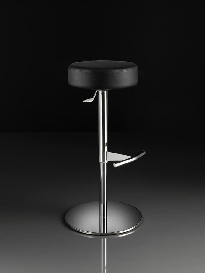 ART. 244/B CAP, Hocker mit runder Sitzfläche, Gas-Lift, für Restaurants