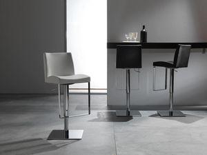 Art. 575 Maxim, Eleganter Stuhl mit Ledersitz, höhenverstellbar