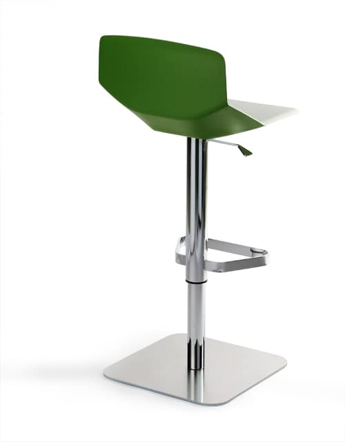Formula tech ST-ADJ, Hocker mit minimalistisches Design, höhenverstellbar und schwenkbar, für Küchentisch und Bar