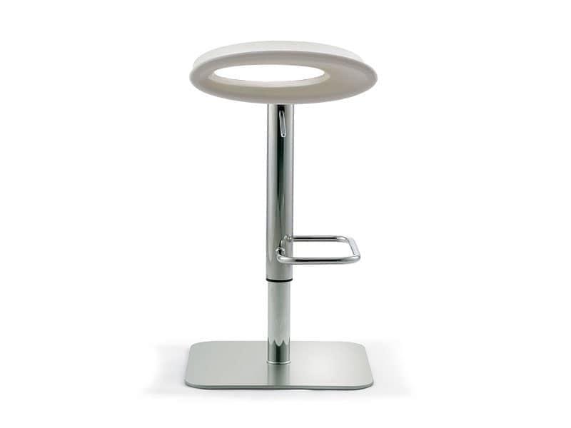 Ipanema adjustable, Drehhocker höhenverstellbar, Sitz aus farbigem Polyethylen, für die Lounge-Bar