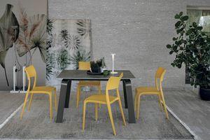 DEIMOS 130 TA191, Ausziehbarer Tisch, Aluminiumrahmen, Feinsteinzeug top