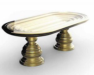 Frames Art. T06, Tisch mit Blattgoldbasis