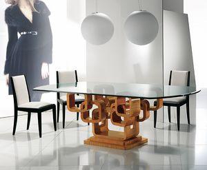 TA34K Glamour Tisch, Eleganter Tisch mit Glasplatte