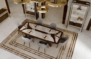 ART. 3328, Tisch mit Calacatta-Marmorplatte