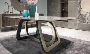 Loop Art. 302-RV2G, Tisch mit Steinzeugplatte aus Porzellan