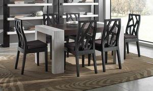 Tabelle light black, Esstisch im ethnischen Stil
