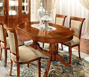 Torriani ovaler Tisch, Klassischer Tisch, mit ovaler Platte