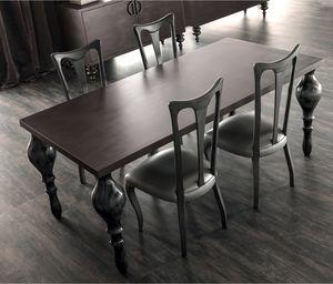 Zoe Art. 201-RR, Tisch mit gedrechselten Beinen