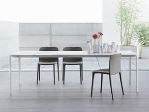LIGHT, Minimal Tisch, ausziehbar, Tisch für Wohnzimmer