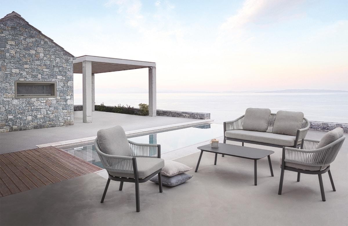 Messico Set, Outdoor-Set mit Sesseln und Sofa