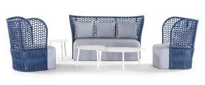 Puerto Plata, Outdoor-Set mit Sesseln und Sofa