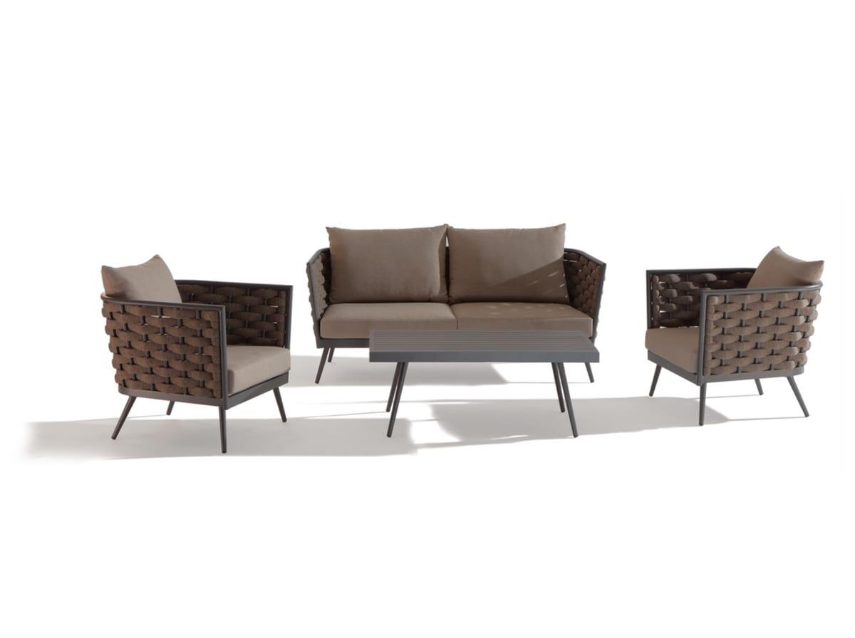 SET CAPPUCCINO, Garten mit Sofa und Tisch