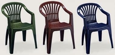 Altea, Außen-Stuhl mit Armlehnen, aus Kunststoff